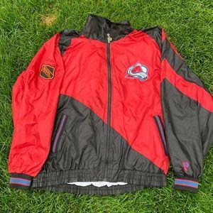 90s Colorado Avalanche NHL Windbreaker Jacket